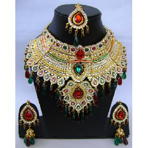 Gold Diamond Bollywood Jewelry Set NP-407 Image