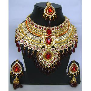 Gold Diamond Bollywood Jewelry Set -NP-409 Image