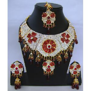 Gold Diamond Bollywood Jewelry Set NP-411 Image