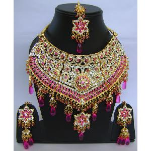 Gold Diamond Bollywood Jewelry Set NP-414 Image
