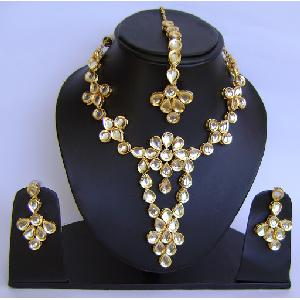 Gold Diamond Bollywood Jewelry Set NP-427 Image