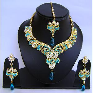 Gold Diamond Bridal Jewelry Sets NP-448 Image