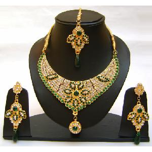 Gold Diamond Bridesmaid Jewelry Set NP-365 Image