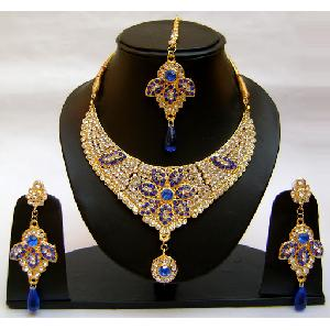 Gold Diamond Bridesmaid Jewelry Set NP-366 Image