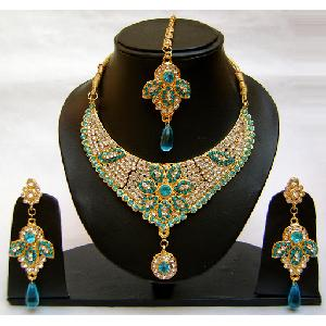 Gold Diamond Bridesmaid Jewelry Set NP-367 Image