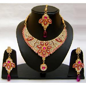 Gold Diamond Bridesmaid Jewelry Set NP-368 Image
