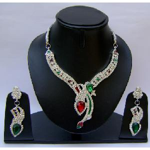 Gold Diamond Bridesmaid Jewelry Set NP-369 Image