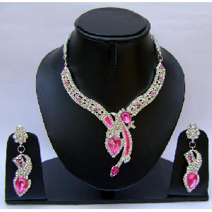 Gold Diamond Bridesmaid Jewelry Set NP-372 Image