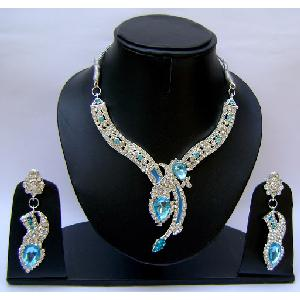 Gold Diamond Bridesmaid Jewelry Set NP-373 Image