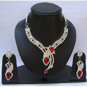 Gold Diamond Bridesmaid Jewelry Set NP-376 Image