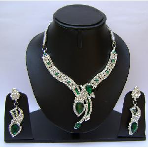 Gold Diamond Bridesmaid Jewelry Set NP-377 Image