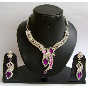 Gold Diamond Bridesmaid Jewelry Set NP-378 Image