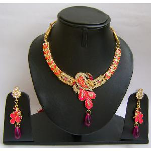 Gold Diamond Bridesmaid Jewelry Set NP-379 Image