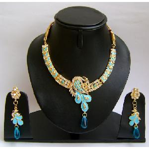 Gold Diamond Bridesmaid Jewelry Set NP-380 Image