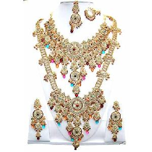 Indian Fashion Jewelry Set JVS-92 Image