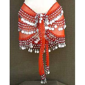 Orange Shimmy Belt Belly Dance 3 Line Image