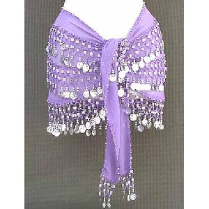 Lilac Shimmy Belt Belly Dance 3 Line Image