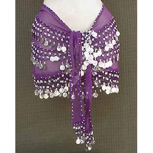 Purple Shimmy Belt Belly Dance 3 Line Image