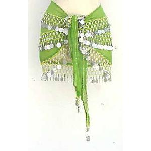 Green Shimmy Belt Belly Dance 3 Line Image