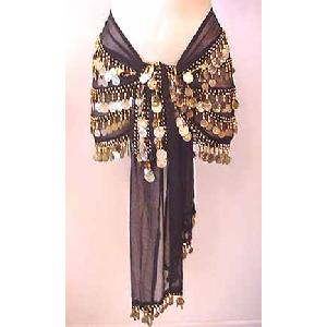 Belly Dancing Hip Scarf Black 5 Lines 750 Coins Go Image
