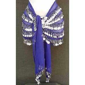 Belly Dancing Hipa Scarf Blue 5 lines Image