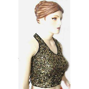 Sequin Halter Top Gold Image