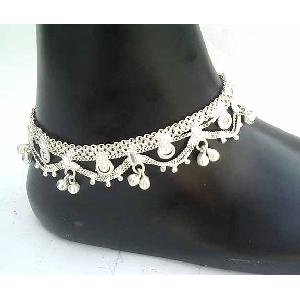 Silver Indian Anklets B Image