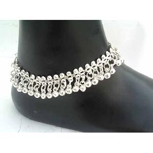 Silver Indian Anklets D Image