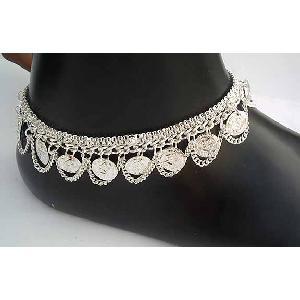 Silver Indian Anklets G Image