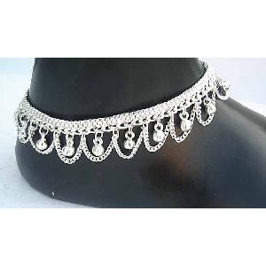 Silver Indian Anklets J Image