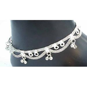 Silver Indian Anklets K Image
