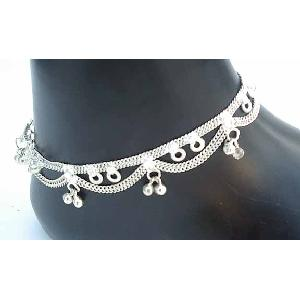 Silver Indian Anklets P Image