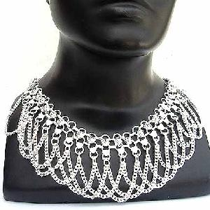 Silver Chain Link Necklace NECKA Image