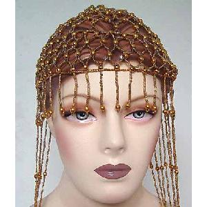 Belly Dancer Cap Gold Beads Image