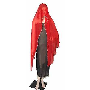 Belly Dancers Veil Red Image