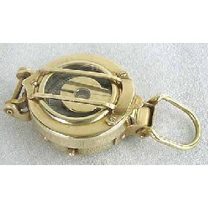 Solid Brass Airdamped Engineering Lensatic Compass Image