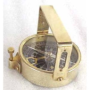 Solid Brass Clinometer Handle Compass Image