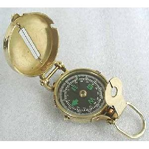 Solid Brass Military Lensatic Compass Image