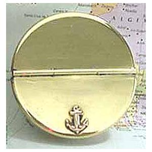 Brass Anchor Ashtray w lid Image