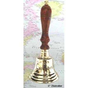 Brass Bell w Handle - Captains table Image