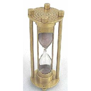 Brass 6 inch Hourglass Sandtimer Antique Image