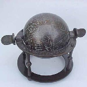 Ancient Astronomers Globe Antique Image