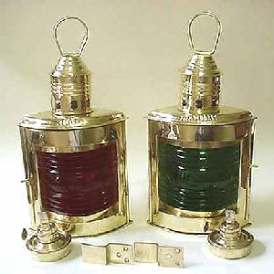 Port Starboard Marine Lanterns in Brass Image