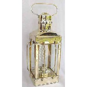 Ships Cargo Lantern with Oil Lamp Image