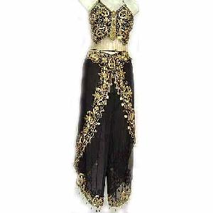 Harem Pant Black Belly Dancer Costume Dress B Image