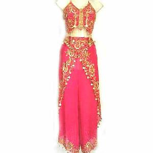 Magenta Belly Dancer Costume Dress B Image
