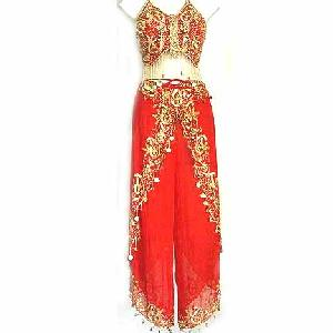 Professional Belly Dance Costumes B Flaming Red Image