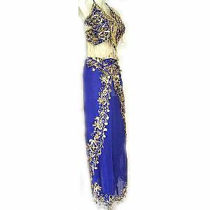 Harem Pant Belly Dancing Costume Blue B Image