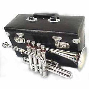New Silver 4 valve Piccolo Trumpet with case Image