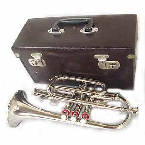 New Silver Bb Cornet with Case Image